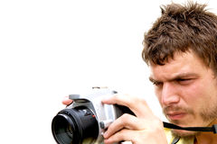 Young Photographer with camera Royalty Free Stock Images