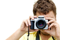 Young Photographer with camera Royalty Free Stock Photo
