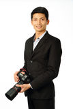 Young photographer with a camera Stock Photography