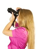 Young photographer girl Stock Photography