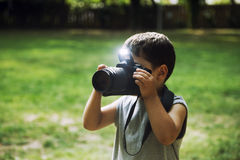 Young Photographer Stock Photo