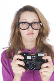 Young photographer nerd Stock Photos