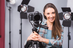 Young photographer posing Stock Photos
