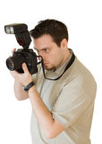 Young photographer Taking a photo Stock Photography