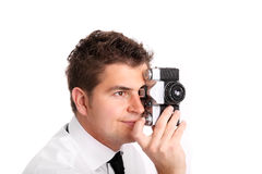 Young photographer taking pictures Stock Photography