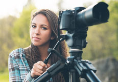 Young photographer and videomaker Stock Images