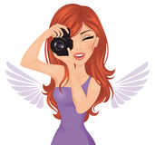 Young photographer woman. Stock Photography