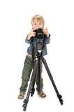 boy with photo camera royalty free stock image