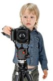 boy with photo camera Stock Photography