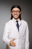 The young physician against gray Royalty Free Stock Photo