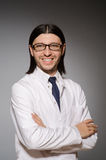 The young physician against gray Stock Photography
