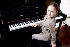 Young pianist Stock Photography