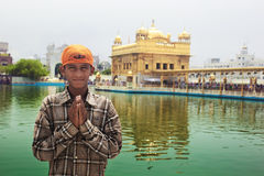 Young pilgrim in Golden Temple Royalty Free Stock Photos