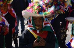 Mexico City, Mexico-December 11, 2017:Young Pilgrims On The Journey To Celebrate The Festivities at the Basilica of Guadalupe. Young Pilgrims On The Journey To Royalty Free Stock Images