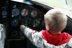 Young pilot Stock Image
