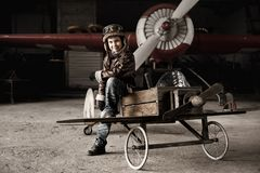 Young pilot Royalty Free Stock Photography