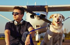 Young pilot stock images