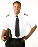 Young Pilot isolated on white Royalty Free Stock Photo
