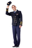 Young pilot isolated Royalty Free Stock Image