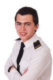 Young pilot isolated Royalty Free Stock Photos