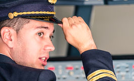 Young Pilot ready for Takeoff Stock Photography