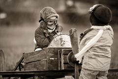 Young pilots royalty free stock photography