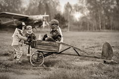 Young pilots Royalty Free Stock Image
