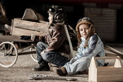 Young pilots Stock Photography