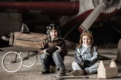 Young pilots Royalty Free Stock Photos