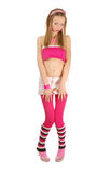 Young Pink Blonde Isolated White Royalty Free Stock Image