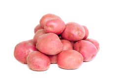 Young pink potato. Isolated Royalty Free Stock Photo