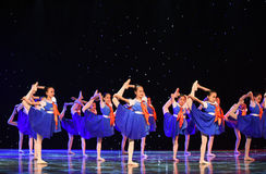 Young Pioneers-The campus show. June 10, 2015, the Jiangxi Vocational Academy of Art dance show performance Stock Image
