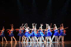 Young Pioneers-The campus show. June 10, 2015, the Jiangxi Vocational Academy of Art dance show performance Stock Photos