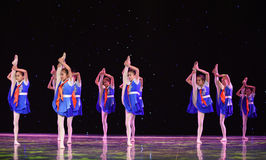Young Pioneers-The campus show. June 10, 2015, the Jiangxi Vocational Academy of Art dance show performance Stock Images