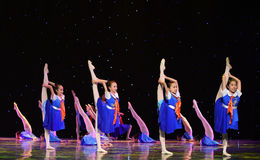 Young Pioneers-The campus show. June 10, 2015, the Jiangxi Vocational Academy of Art dance show performance Royalty Free Stock Photography