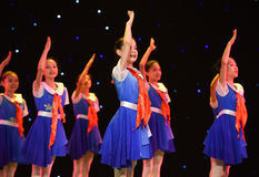 Young Pioneers-The campus show. June 10, 2015, the Jiangxi Vocational Academy of Art dance show performance Royalty Free Stock Images