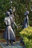 Young Pioneers. Sculpture of pioneers in Erfurt, Germany Stock Image