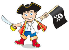 Young pirate. Vector clip-art /  Young pirate illustration for your design Royalty Free Stock Photos