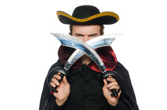 Young pirate holding sword Stock Photo
