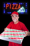Young pizza delivery man Stock Photo