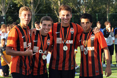 Young players of Shakhtar Royalty Free Stock Photos
