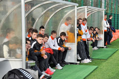 Young players watch training Royalty Free Stock Images