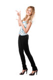 Young playful blond woman Stock Photography
