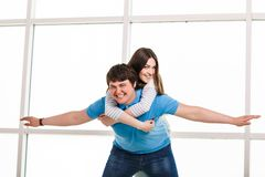 Young playful couple Stock Photos