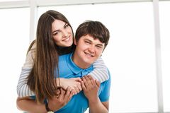 Young playful couple Royalty Free Stock Photos