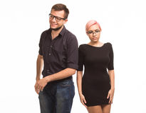 Young playful couple royalty free stock image