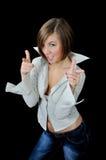 Young playful girl hooligan Royalty Free Stock Photos
