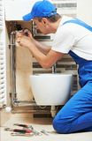 Young plumber man worker Royalty Free Stock Photography