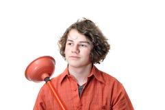 Young Plumber Repairman Royalty Free Stock Images