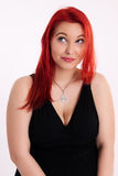 Young plump red-haired woman Royalty Free Stock Images
